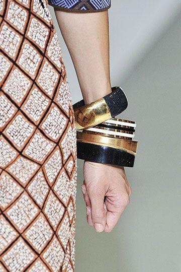 Marni bangles...black n gold