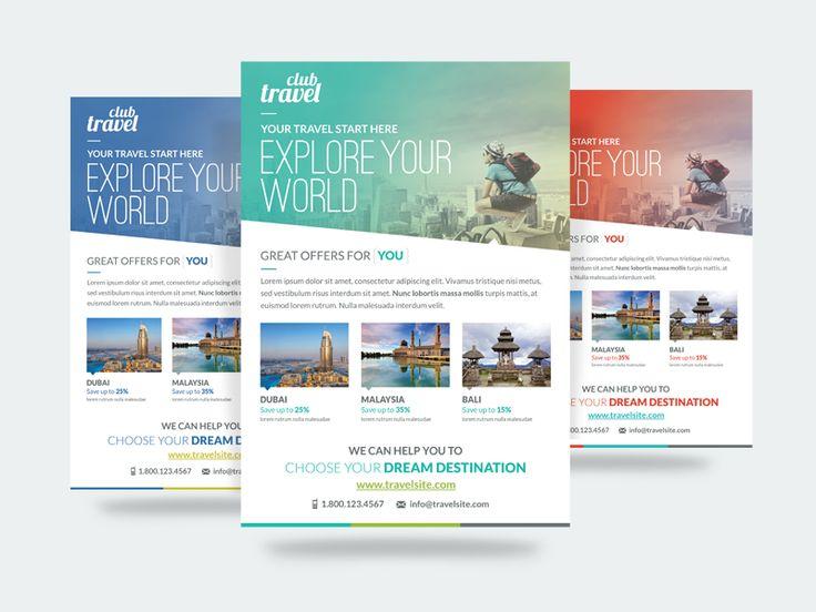 150 best tourismtravel layout images on Pinterest Flyer design