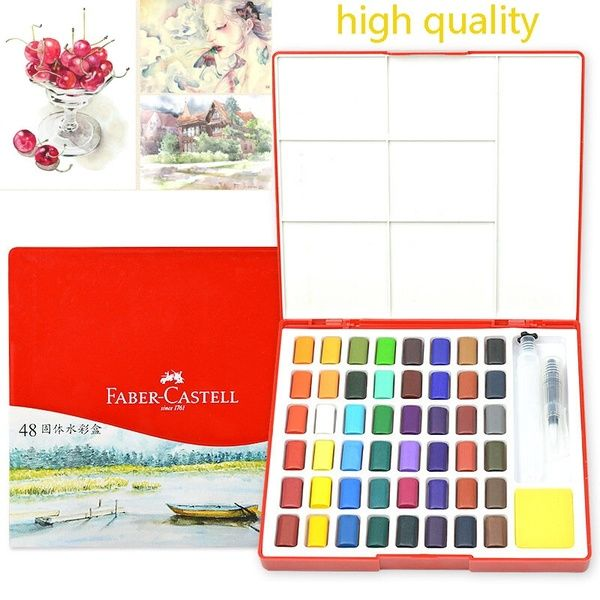 High Quality 24 36 48 Colors Solid Watercolor Paint Professional