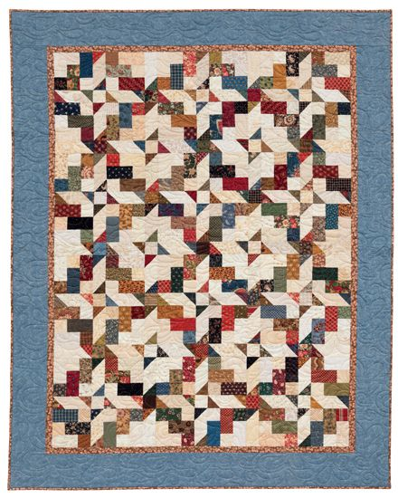 """""""Generations"""" from Kim Brackett's new book, Scrap-Basket Beauties: Quilting with Scraps, Strips, and Jelly Rolls."""