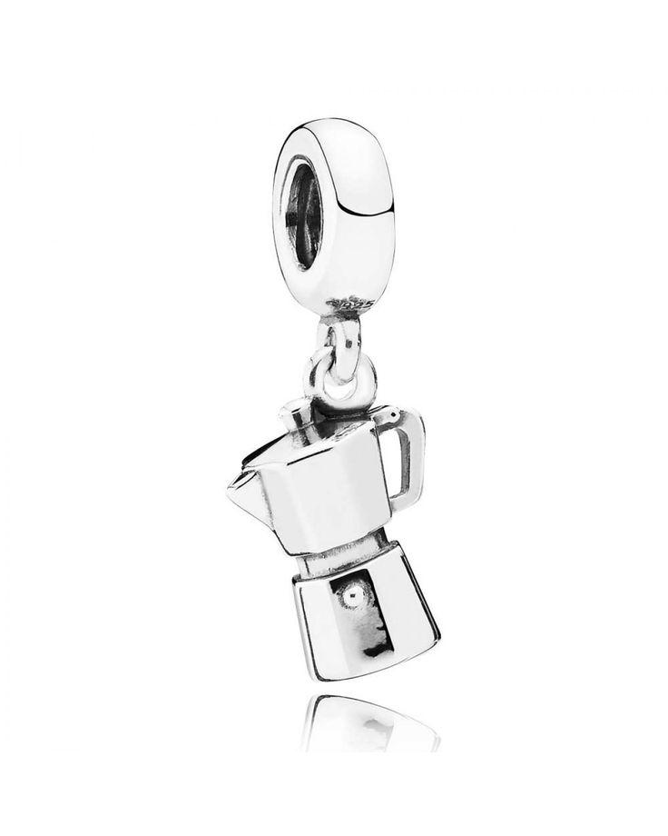 Pandora Silver Espresso Can Dropper Charm 791514