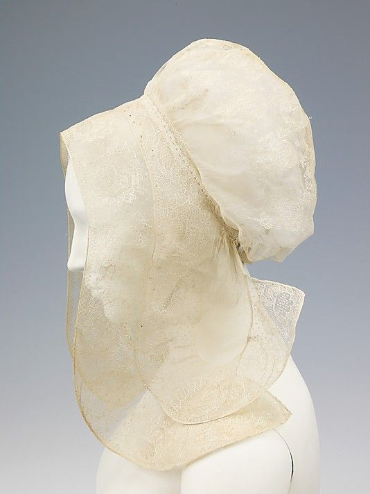 Cap, 1760–90, French, cotton, linen. This peasant bonnet is from the Cher River valley in Touraine, a former province of France southwest of Paris. The Metropolitan Museum of Art.