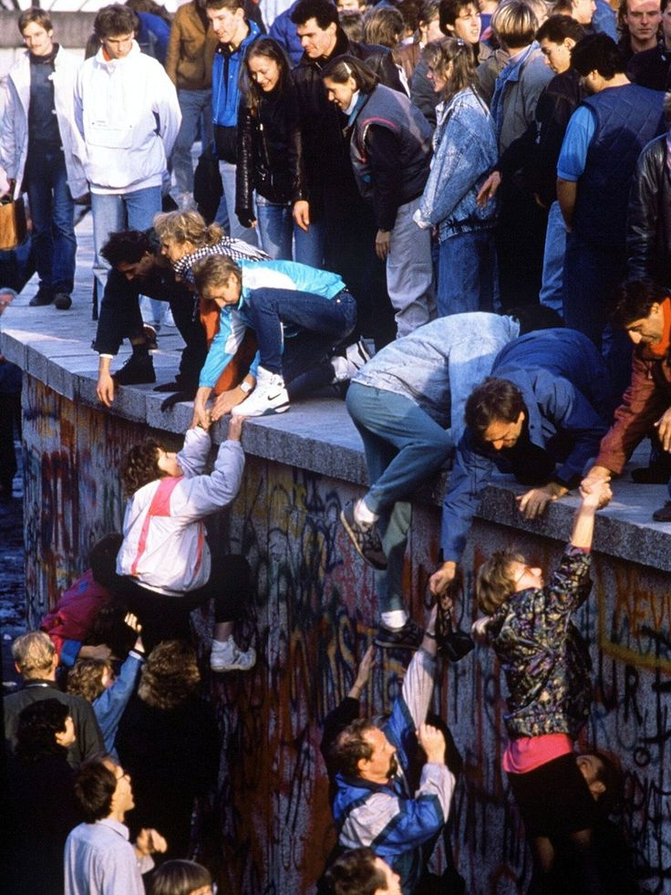 Berlin Wall Falls in 1989