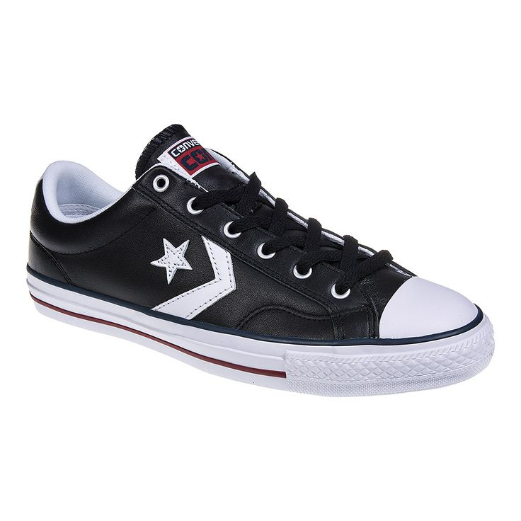 Converse Cons Star Player Leather Shoes Black/White