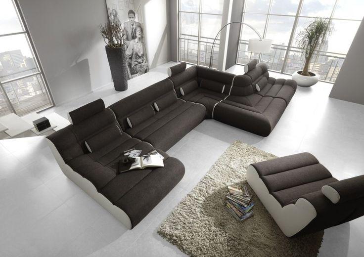 Elements moderní variabilní sedací souprava černá-bílá / modular living room sofa