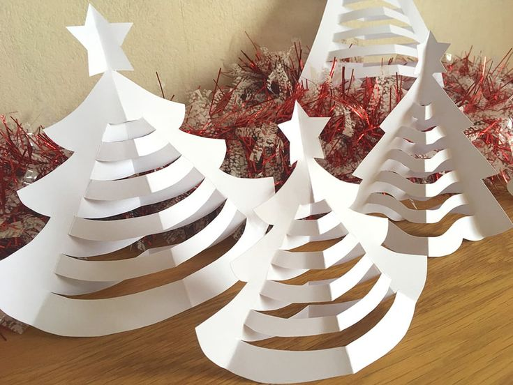 Here is a very nice activity for children, achievable to infinity! Create a forest of paper trees with a few scissors.