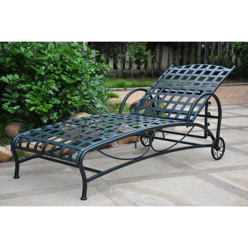 International Caravan Santa Fe Iron Multi Position Single Outdoor Chaise Lounge - Outdoor Chaise Lounges at Hayneedle