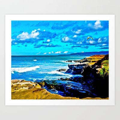Ocean Landscape Art Print by Tim Eisenhauer - $17.68