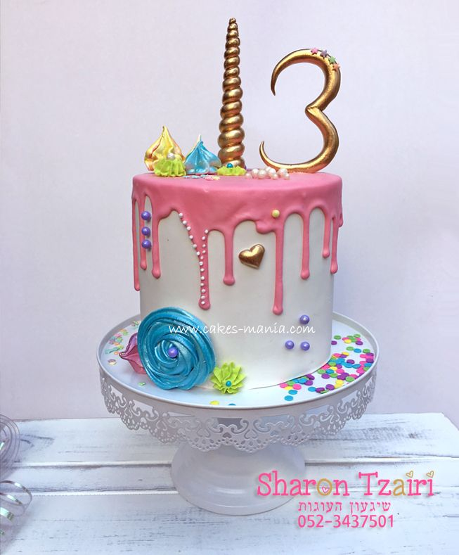 Unicorn Inspired Cake For My Dougher S 13 Years Old Birthday