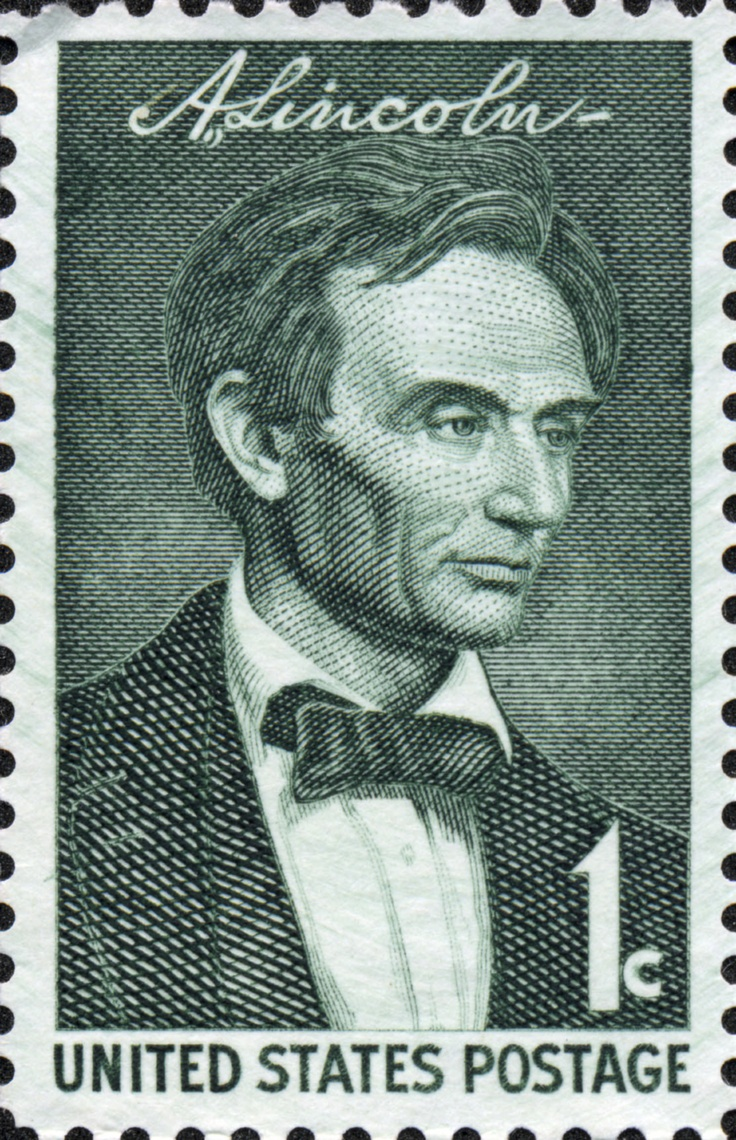 1 cent Abraham Lincoln Stamp