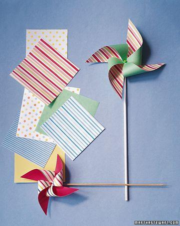 DYI Paper pinwheelsSummer Crafts, Diy Crafts, Summer Parties, Paper Pinwheels, Crafts Tutorials, Martha Stewart, Summer Fun, Weather Crafts, Baby Shower