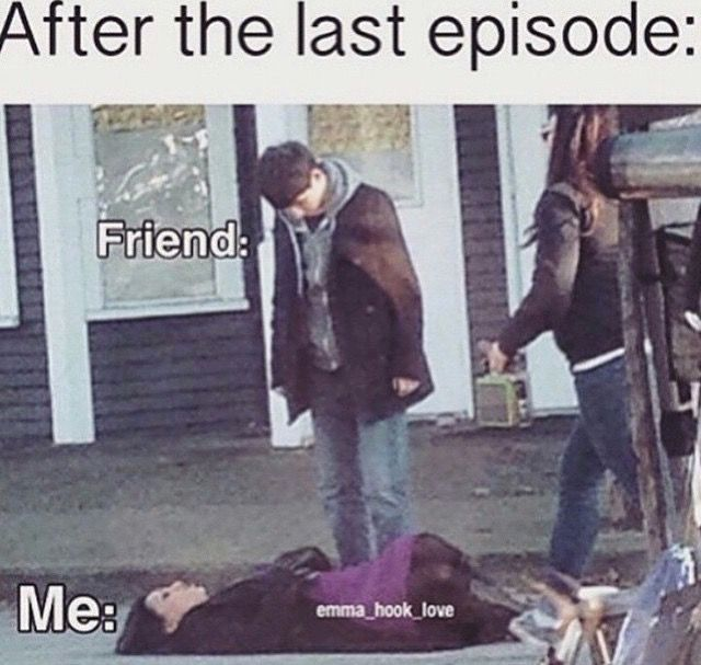 It's funny because it's Once upon a time....I hate those cliffhangers.