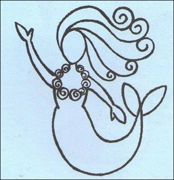 how to draw a mermaid drawing lesson - Images Of Drawings For Kids