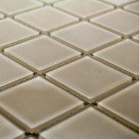Vanilla Polished Glass Mosaic 300x300mm