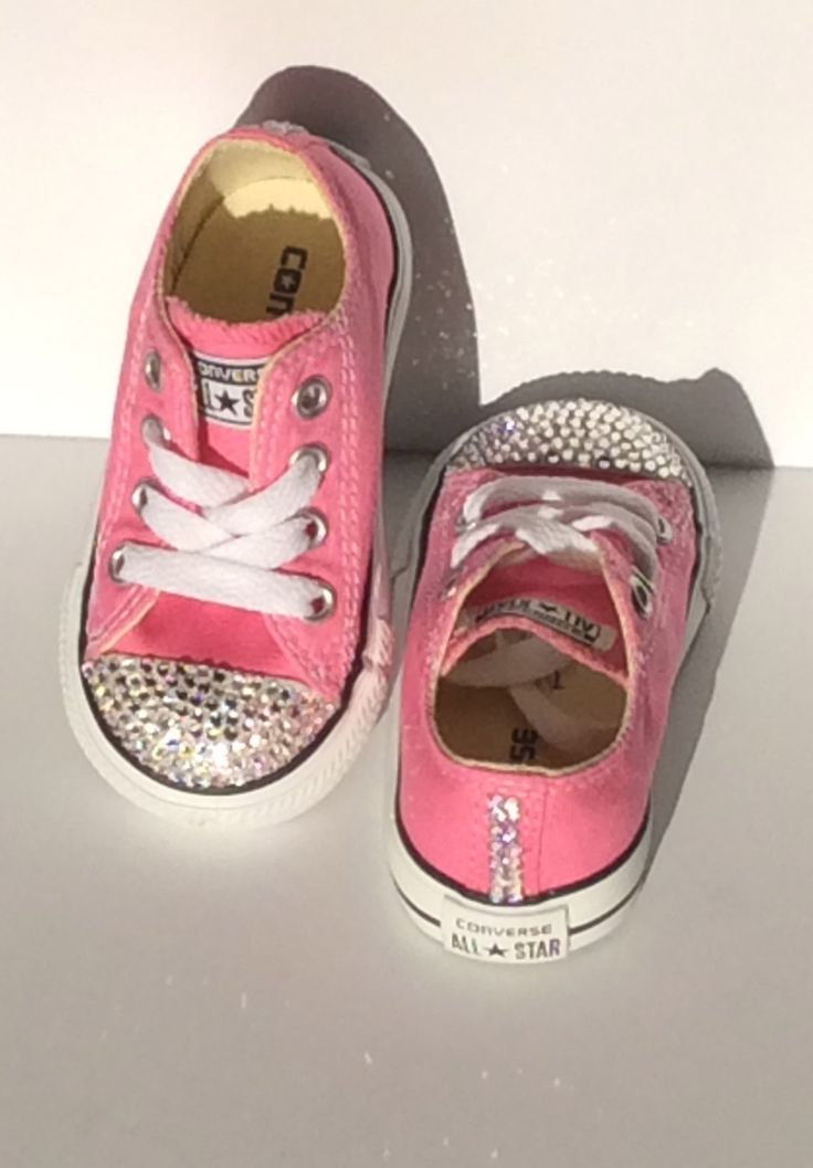 Custom Orders: Bling Shoes for Baby; Choose the Color Swarovski Crystal,  Shoe Size, and Color - Infants/ Toddlers/ Youth Bedazzled Converse