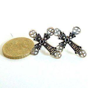 keltische kruis oorbellen - Celtic Cross - zilver - 2183 -SMADA® Trading
