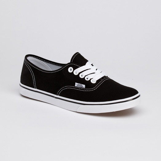 A pair of black vans can go with anything casual!