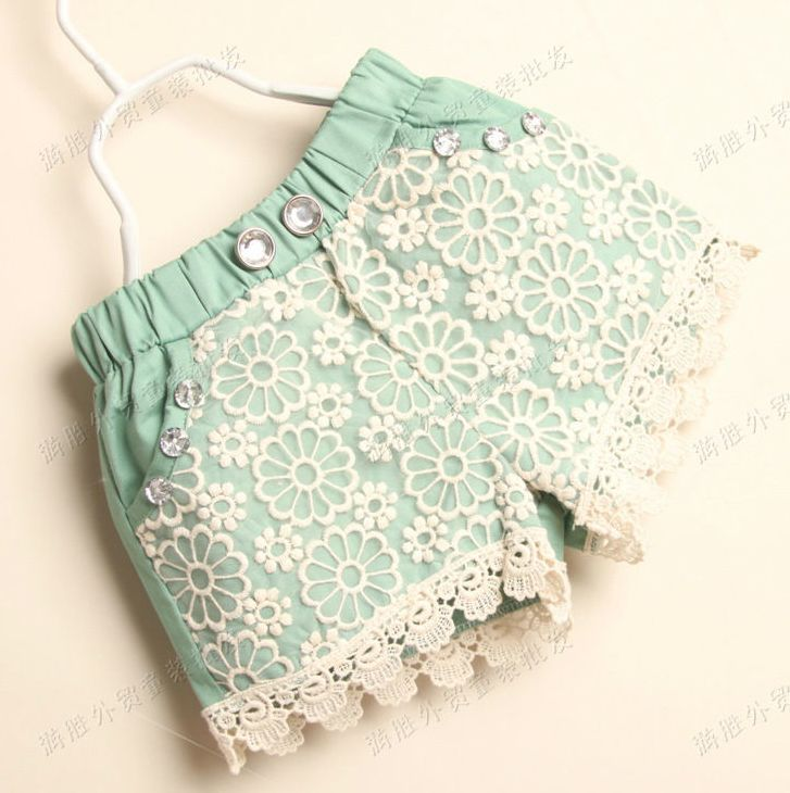 Adorable baby girl shorts