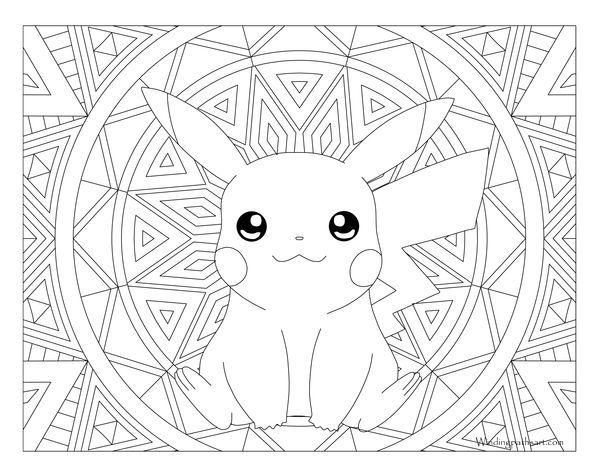 025 Pikachu Pokemon Coloring Page Pokemon Coloring Sheets Pikachu Coloring Page Mandala Coloring Pages