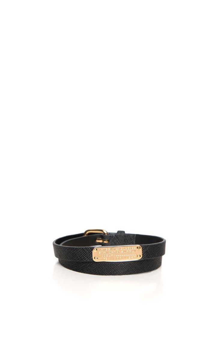 Armband Standard Supply Leather BLACK/GOLD - Marc by Marc Jacobs - Designers - Raglady