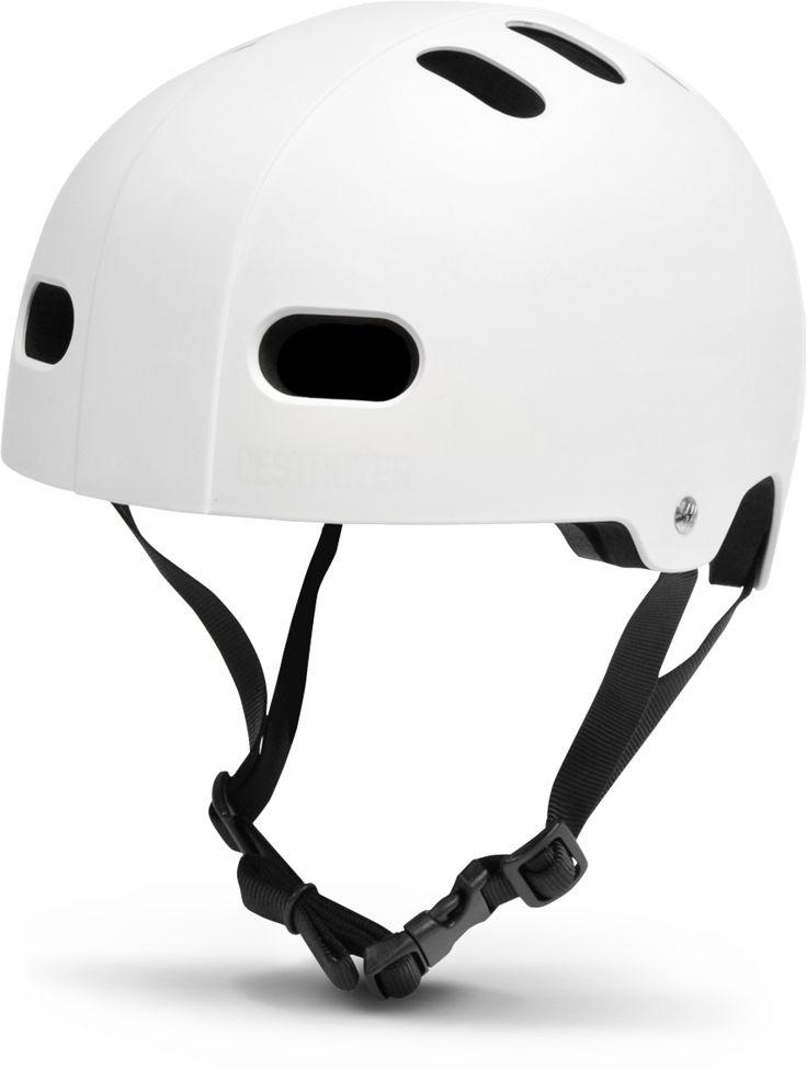 Kids - Youth White Multi-Impact Skateboard Helmet