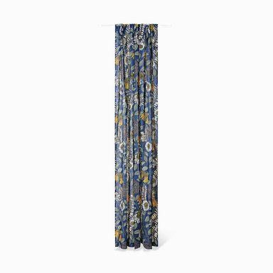 Gardin Joan's Garden design av Abigail Borg, 140x240 cm, blå