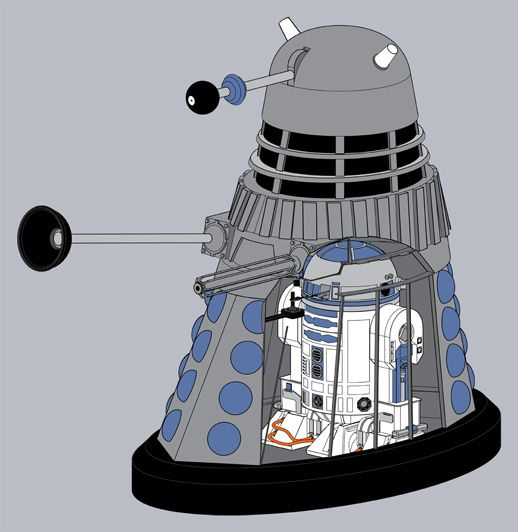Dalek and R2D2 Yes!!!!