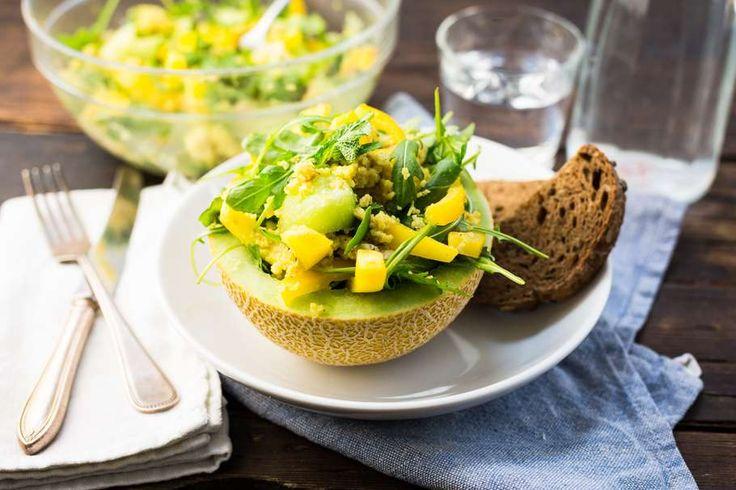 Maaltijdsalade met meloen en kip - Koken met Aanbiedingen