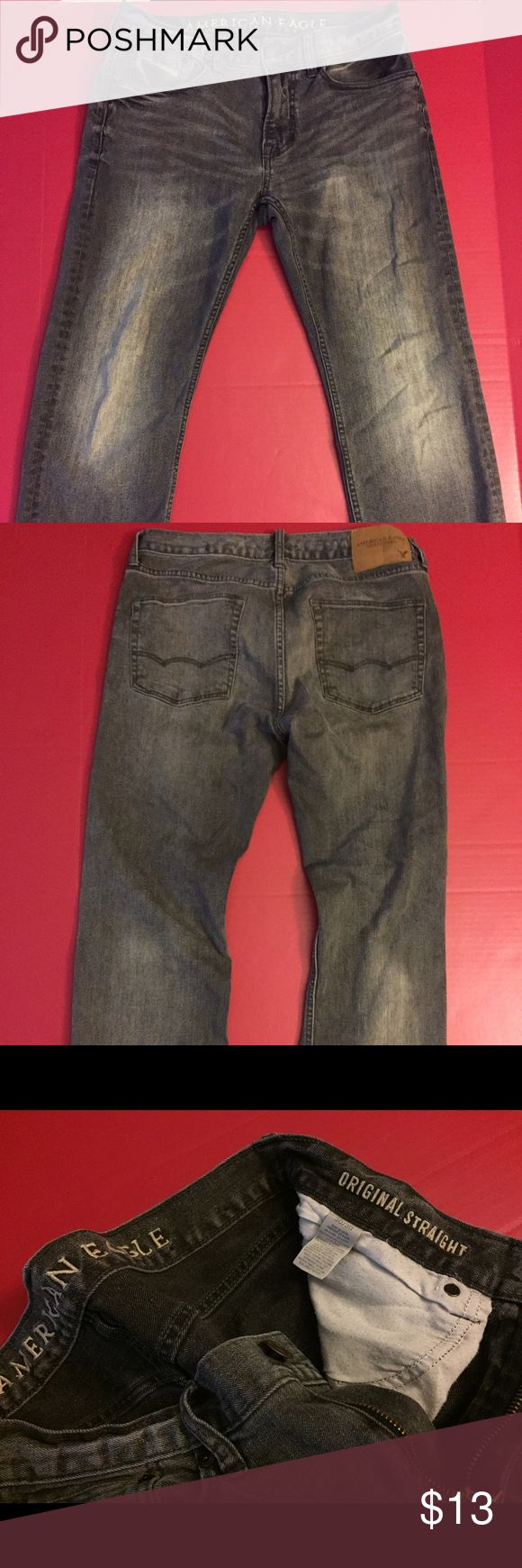 American Eagle Gray Jeans American Eagle Men's Gray Jeans 30X30. Straight. Have some elasticity to them. American Eagle Outfitters Jeans Straight