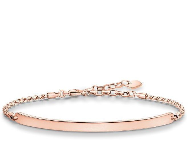Thomas Sabo Bracelet Love Bridge Rose Gold 21cm