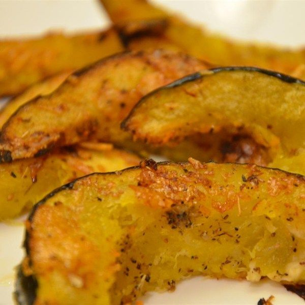 "Parmesan Roasted Acorn Squash | ""Very simple but satisfying way to ..."