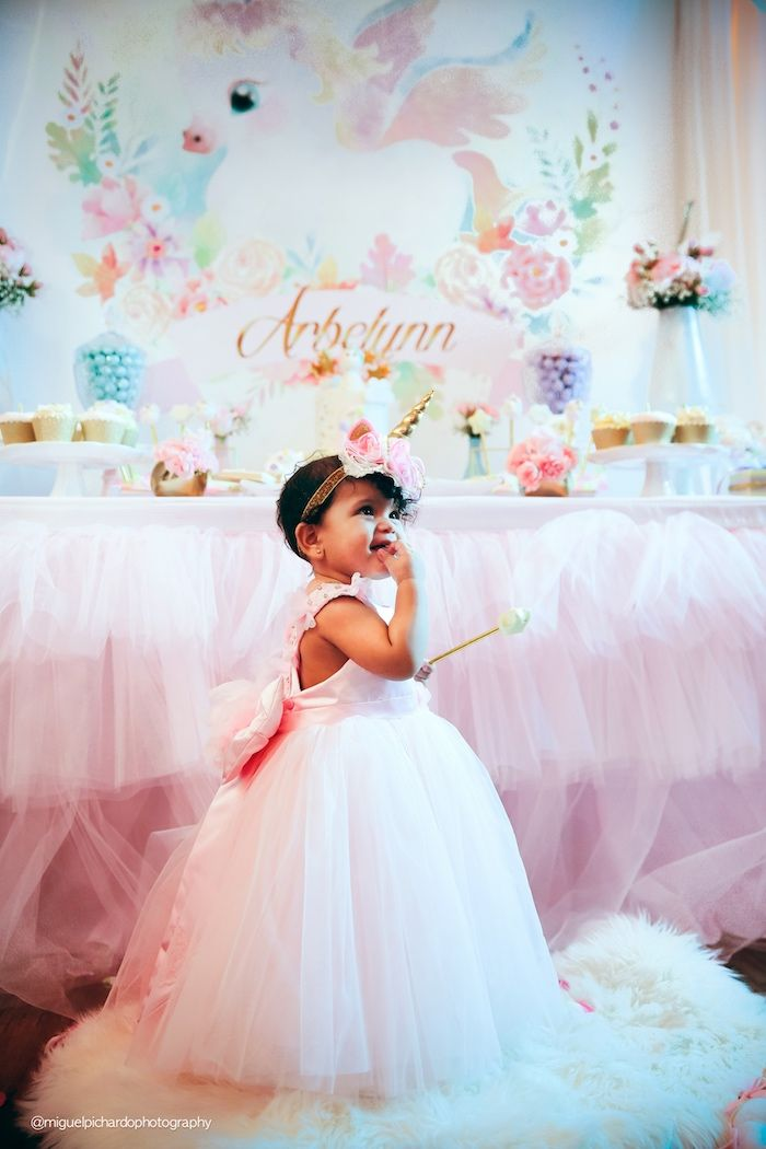 Baby Unicorn 1st Birthday Party on Kara's Party Ideas | KarasPartyIdeas.com (35)