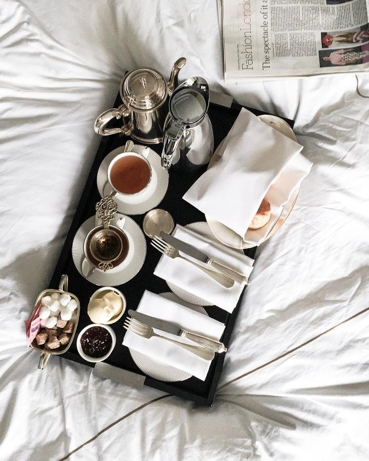 """""""Take me back to that rainy London morning, when we woke up purposefully late & treated ourselves to scones, clotted cream & tea in bed..."""""""