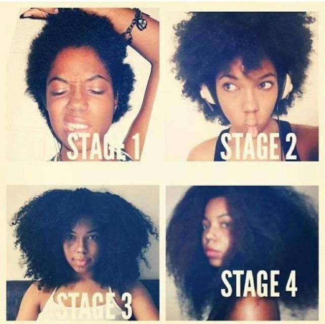 Natural Hair Journey Stages