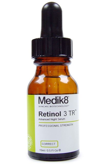 I have been using it at night with Mad Hippie Eye Cream and then a moisturizer. instructions also say that you can put drops on your finger and apply it that way, and that's what I have been doing.Medik8 Retinol 3 TR, $55, available at Truth In Aging