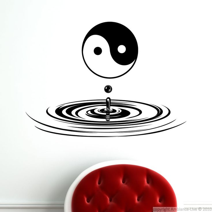die besten 25 wall stickers yin and yang ideen auf. Black Bedroom Furniture Sets. Home Design Ideas