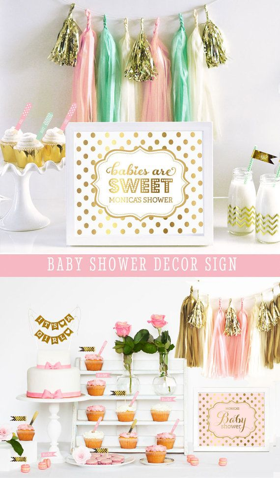 Hey, I found this really awesome Etsy listing at https://www.etsy.com/listing/169415986/pink-baby-shower-decorations-gold-baby