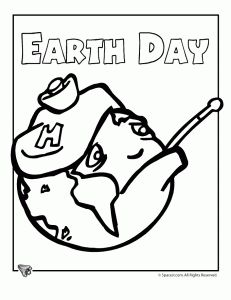 Earth Day Coloring Page From Classroom Jr