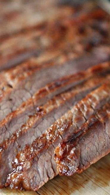 Grilled Honey and Ginger Marinated Flank Steak | Recipe