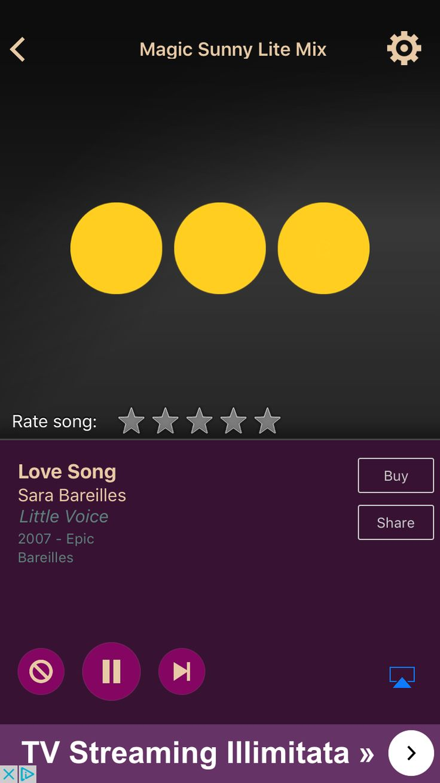 Love Song by Sara Bareilles on AccuRadio