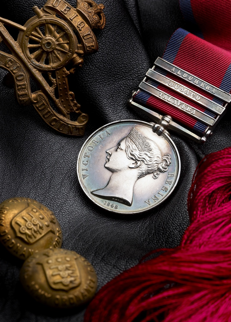 Military General Service Medal with three clasps