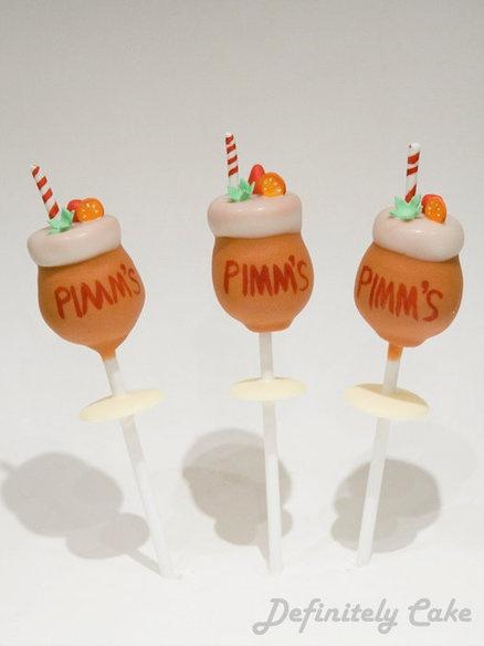 Pimms and Lemonade Cake Pops