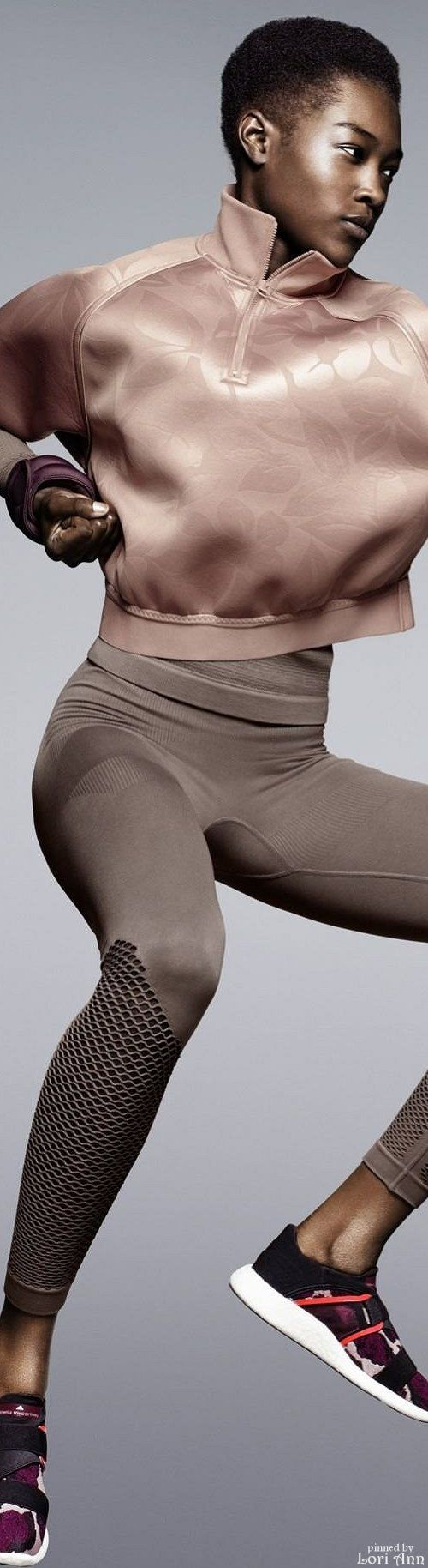 Adidas by Stella McCartney Fall 2015 RTW. The pink sand and brushed finish of the top could work in Soft Summer. The pants? Probably Bright Winter. Reminds me of the purse colour of a pin Rachel just added to her Dramatic Inspiration board.