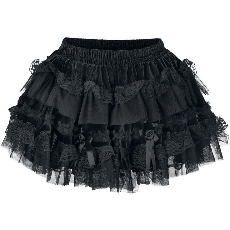 super cute velvet skirt with lace and roses <3