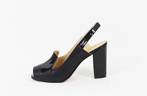 &Attorney Isa Heel Black Patent Leather