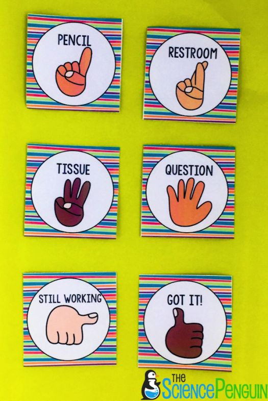 Free Classroom Hand Signals Posters