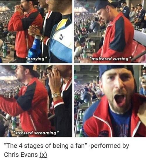 My favorite thing about this is that this is Chris at the Super Bowl cheering for the patriots
