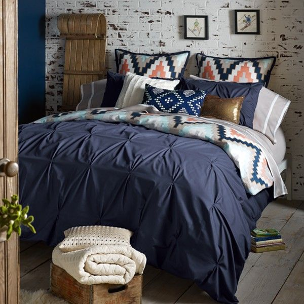 Love this but I can't afford it - need to find an affordable substitute! - Blissliving Home Harper Navy Bedding