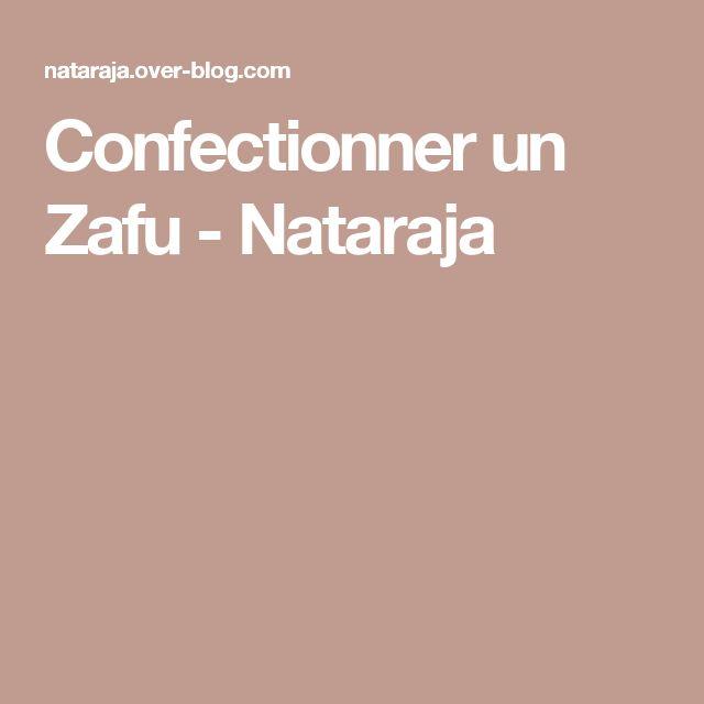 Confectionner un Zafu - Nataraja