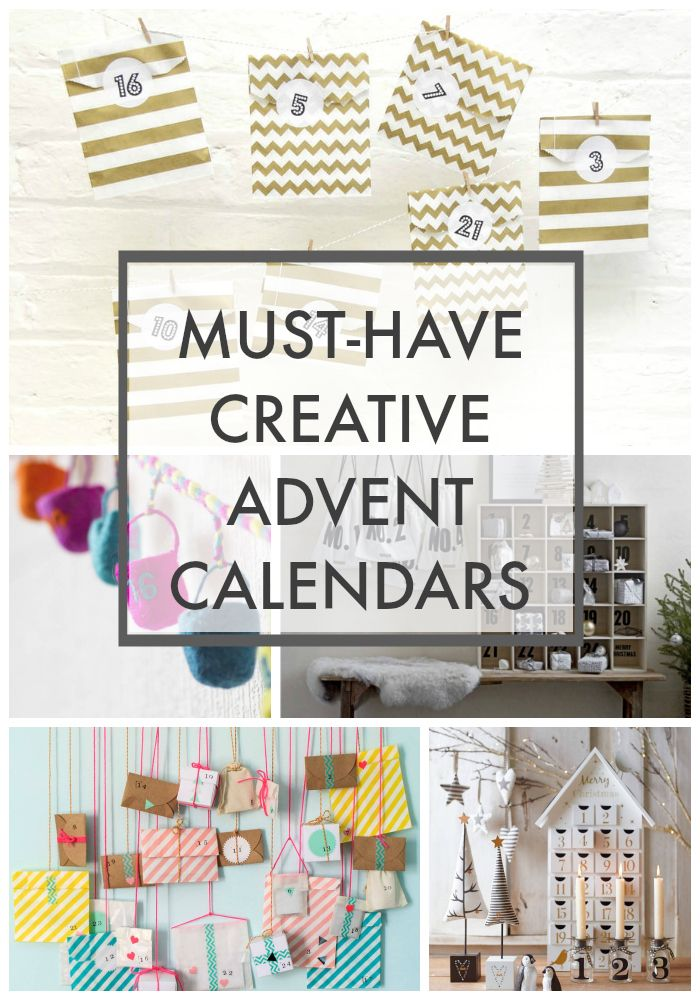 Advent Calendar Roundup with lots of stylish, colourful and different advent colours for any family home.
